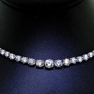 Amazing Brilliance in Classic Diamond Necklace