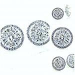 Ladies 18K Bling Diamond Stud Earrings