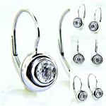 Ladies 14K Diamond Dangle Stud Earrings