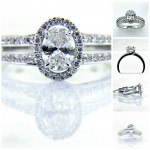 Ladies 18k Oval Diamond Engagement Ring