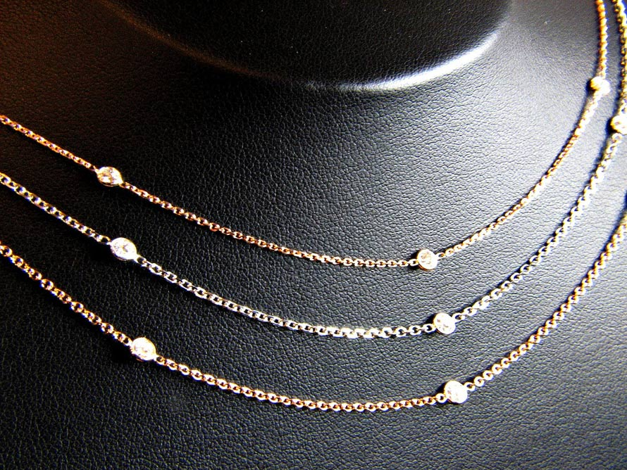 "Shimmering ""Diamonds by the Yard"" Necklaces"