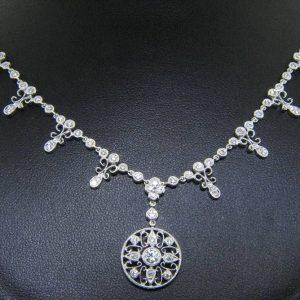 "Signature Nouveau Estates Diamond ""Lace"" Necklace"