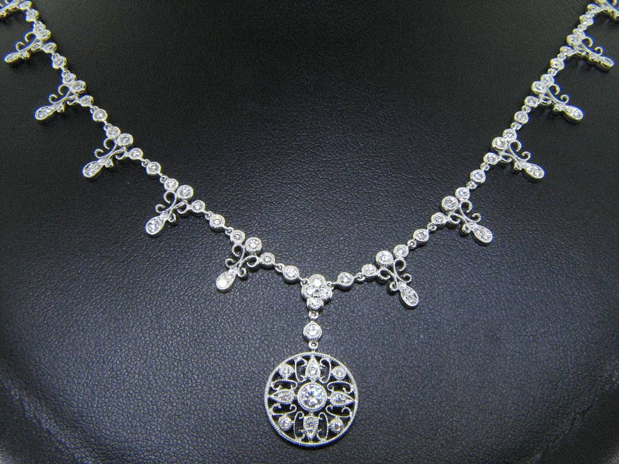 "Signature Nouveau Estates Diamond ""Lace"" Necklace"