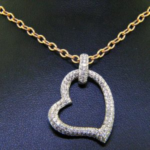 Unique Pave Diamond Heart Pendant