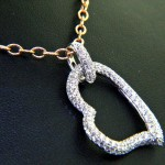 Unique Pave Diamond Heart Pendant