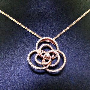 Very Unique Rose Gold Diamond Pendant