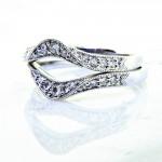 Ladies 18k Wrap Style Diamond Anniversary