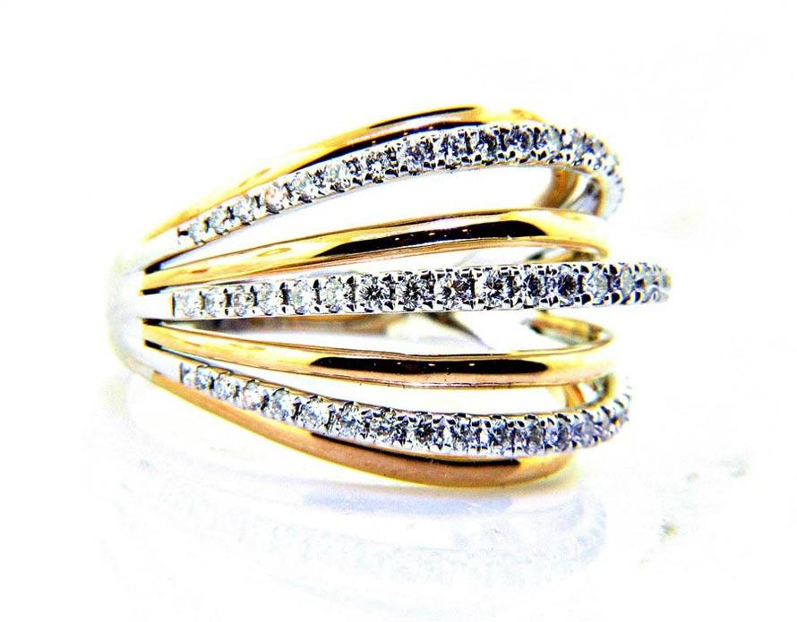 Ladies 18K Multi Band Diamond Anniversary
