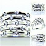 Ladies 18k Princess Cut Diamond Engagement Ring