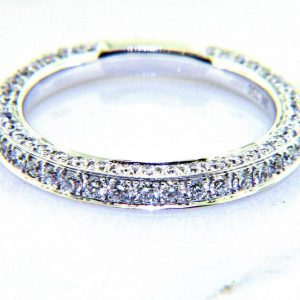 Ladies 18K Pave Diamond Eternity Anniversary