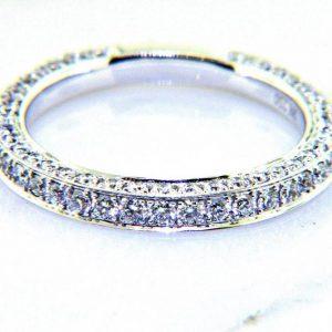 Ladies 18K Pave Diamond Eternity Anniversary