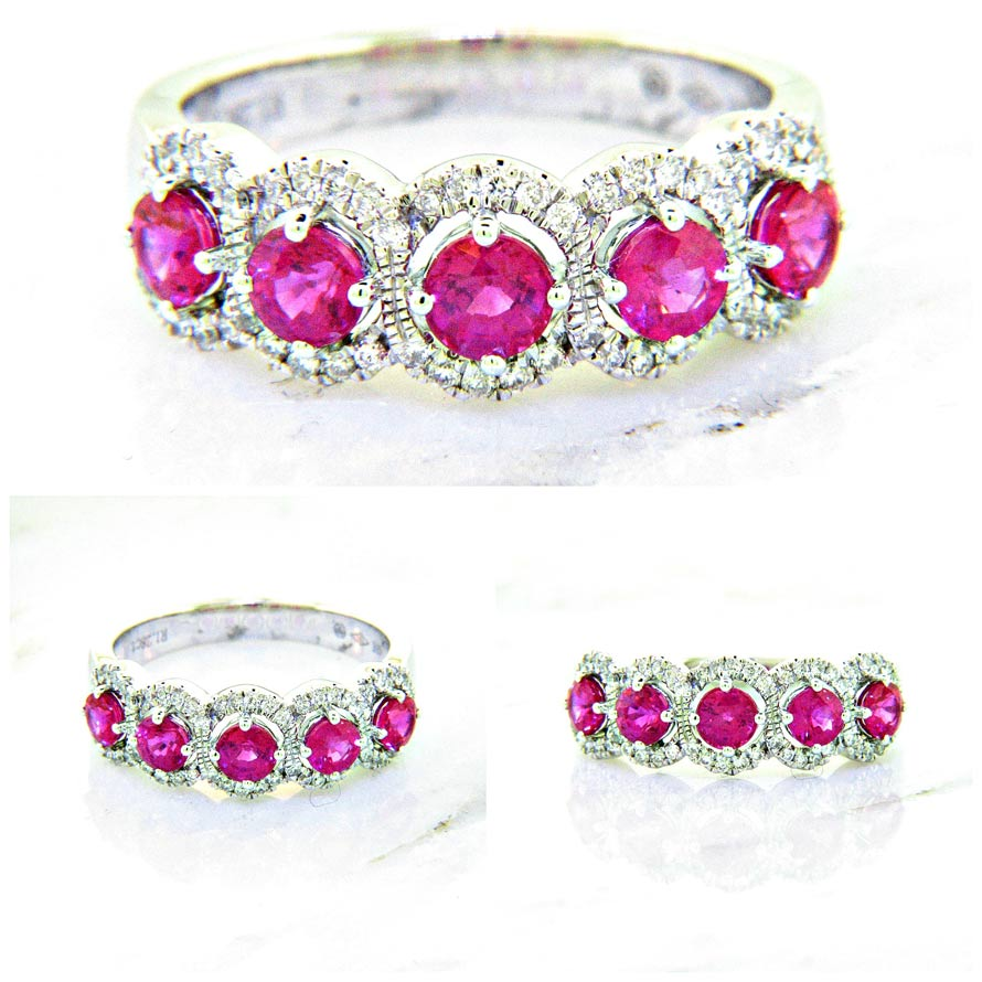18K Ruby and Diamond Band