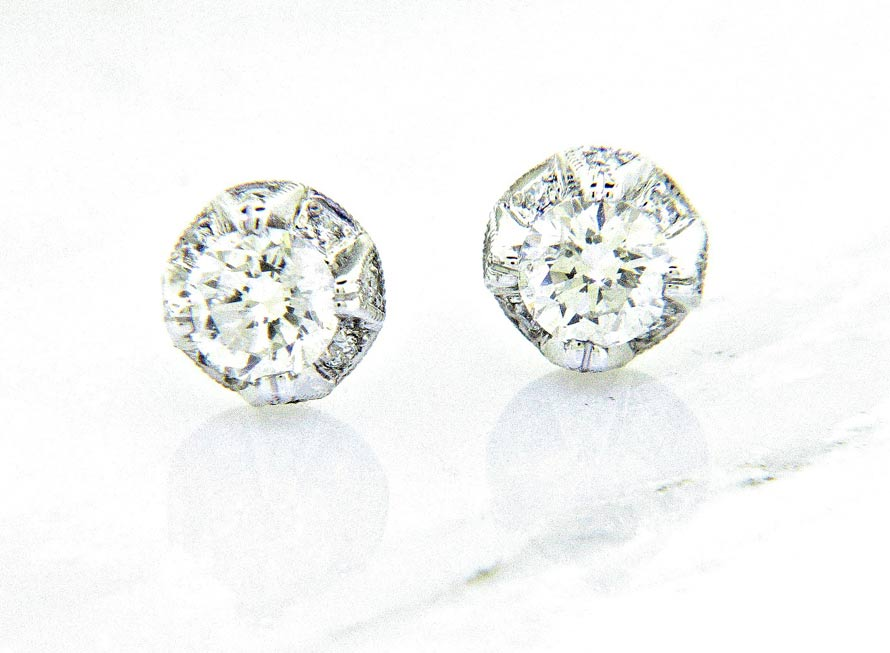 Ll Pavorsky Bling Diamond Stud Earrings