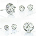 Bling Diamond Stud Earrings