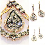 Champagne Colored Diamond Dangle Earrings