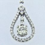 "Classic ""Drop"" Style Diamond Pendant"