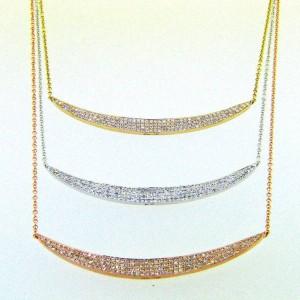 14k Crescent Diamond Necklaces