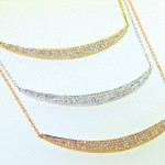14k Crescent Diamond Necklaces