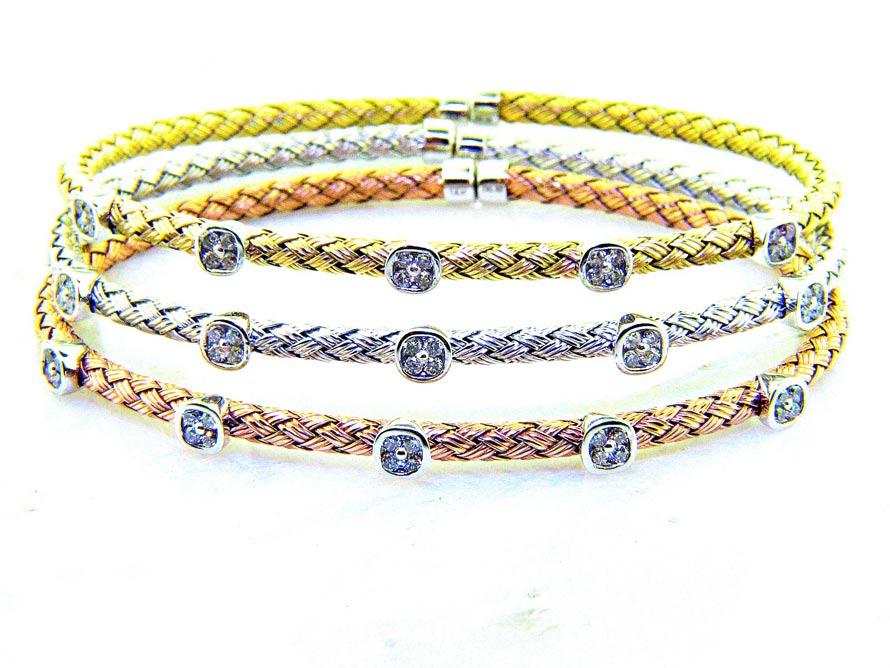 Ll Pavorsky Diamond Cuff Bracelets