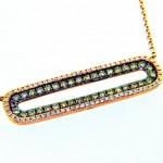 Diamond Oval Bar Necklace