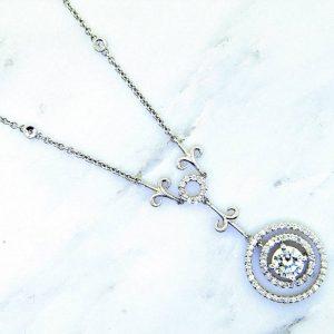 Unique and important Diamond Solitaire Necklace.