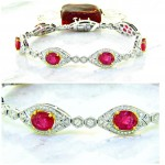 Estate Style Ruby and Diamond Bracelet 16.04ctw
