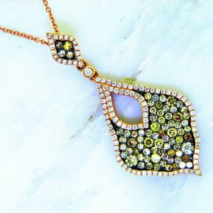 Fancy Color Diamond Pendant