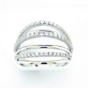 Ladies 18k Multi Band Diamond Ring