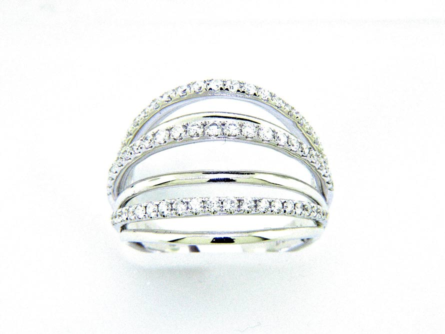 Ladies 18k Multi Band Diamond Ring