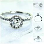 Ladies 18k White Gold Princess Cut Diamond Engagement Ring