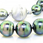 Natural Black Tahitian Pearl Necklace