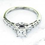 Nouveau Estates Princess Cut Diamond Engagement Ring