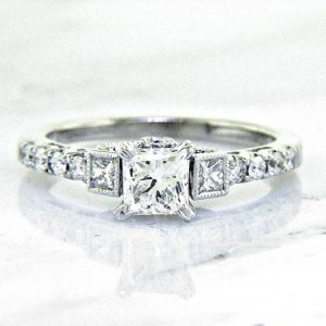 Nouveau Estates Princess Cut Diamond Engagement Ring