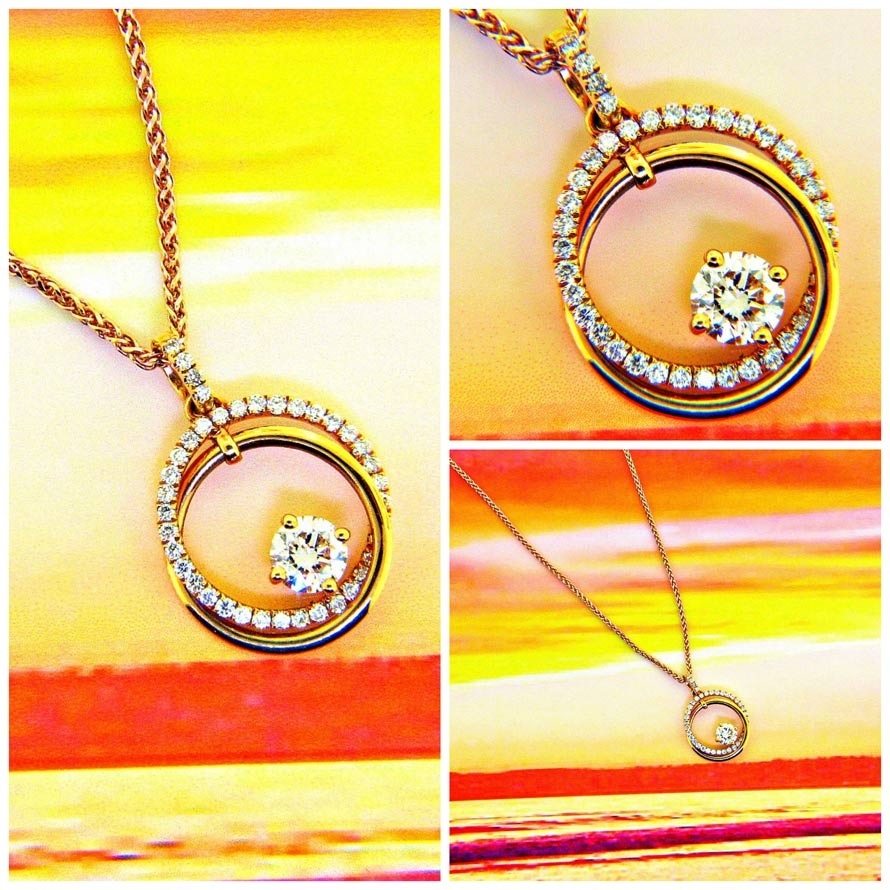 Circle of love diamond pendant ll pavorsky circle of love diamond pendant aloadofball Images