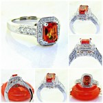 Sunset Collection Emerald Cut Orange Sapphire
