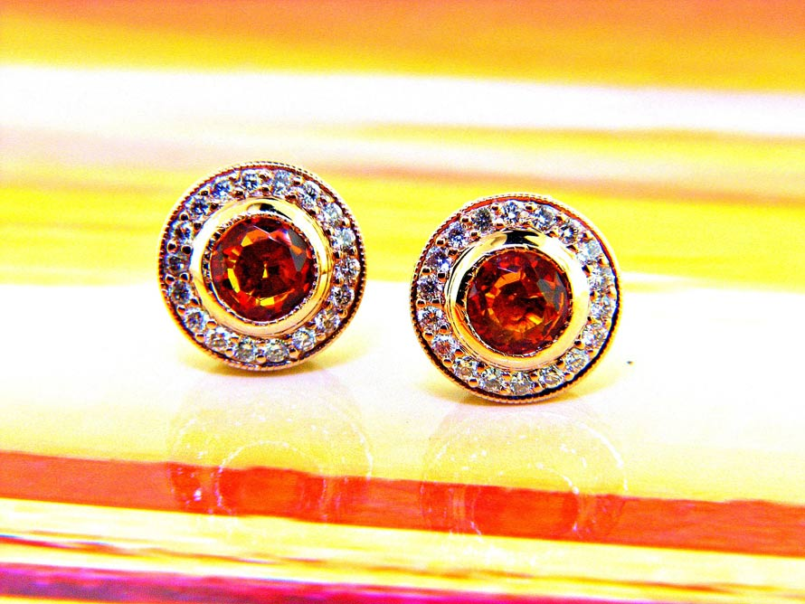 Sunset Collection Filigree Stud Earrings