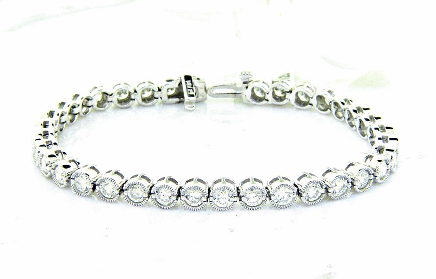 Unique Diamond Eternity Bracelet