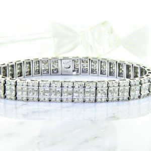 Unique Invisible set Diamond Eternity Bracelet