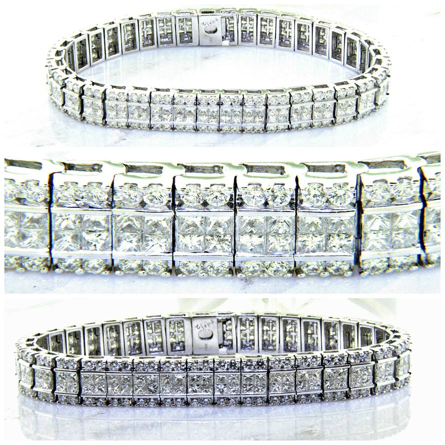 diamonds invisible women princess in dress rows cocktail over rings arranged set cut ring with white diamond gold for