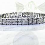 Unique Invisible set Diamond Eternity Bracelet