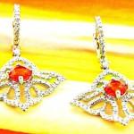 White Gold Diamond Dangle Earrings