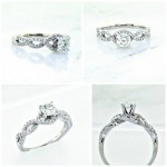 Collage 18K Braided Diamond Engagement Ring 0.93ctw