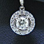 Huggie Style Dangle Diamond Earrings