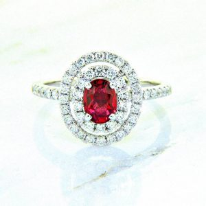 Sunset Collection Sapphire and Diamond Ring