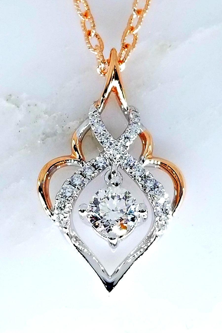 Quot Eternal Flame Quot Diamond Pendant 0 69ctw Ll Pavorsky